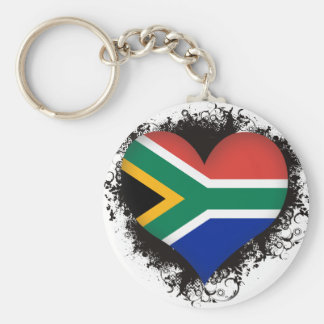 Vintage I Love South Africa Basic Round Button Key Ring