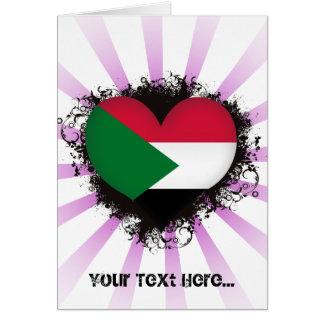 Vintage I Love Sudan Card