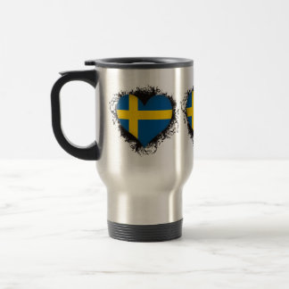 Vintage I Love Sweden Travel Mug