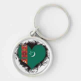 Vintage I Love Turkmenistan Key Chains