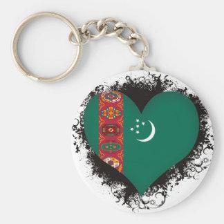 Vintage I Love Turkmenistan Key Chain