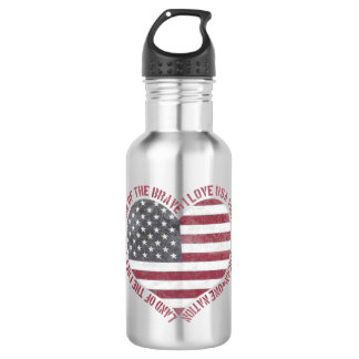 Vintage I Love USA Heart 532 Ml Water Bottle