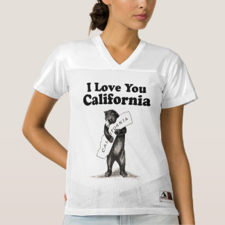 Vintage I Love You California Bear Women's Football Jersey
