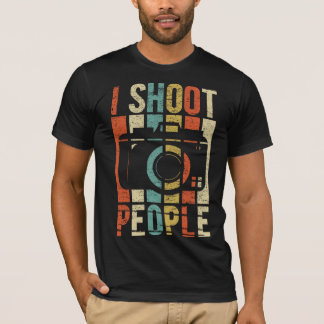 Vintage I Shoot People Photographer T-Shirt