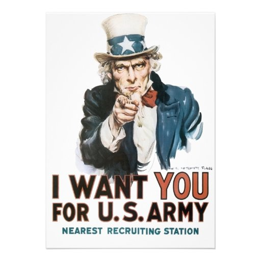 Vintage I Want You Army Poster Personalized Announcement