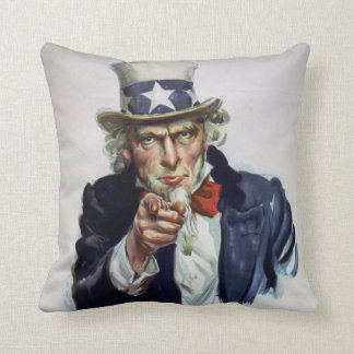 Vintage 'I Want You' Uncle Sam Decorative Pillow