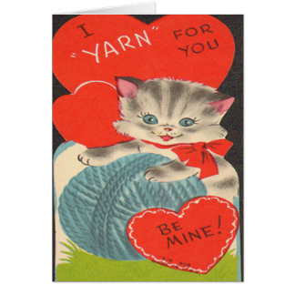 "Vintage I ""Yarn"" for You Valentine's Day Card"