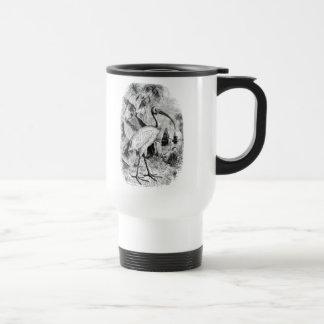 Vintage Ibis Bird Personalized Old Tropical Birds Travel Mug