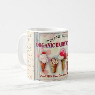 Vintage ice cream parlor sign mug