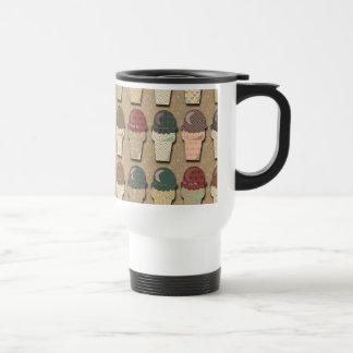 Vintage Ice Cream Pattern Coffee Mug