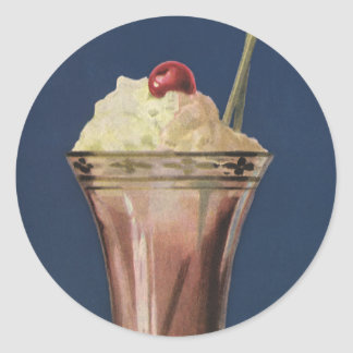 Vintage Ice Cream Shake, Whipped Cream & Cherry Stickers