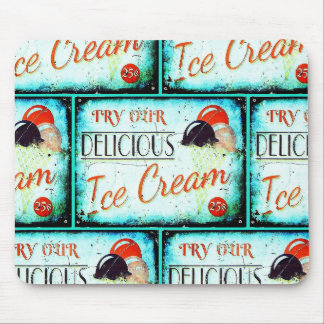 Vintage ice cream sign mousepad