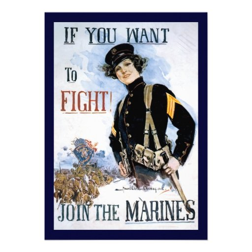Vintage If you want to fight recruiting poster Custom Invitations