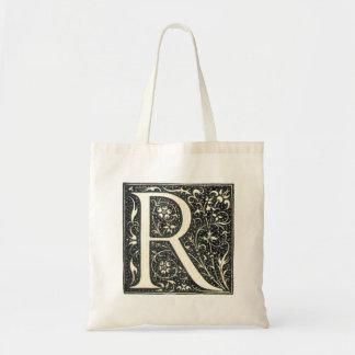 Vintage Illuminated Monogram Letter R Tote