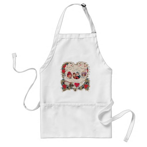 Vintage Illustrated Picture Aprons