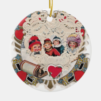 Vintage Illustrated Picture Christmas Tree Ornaments