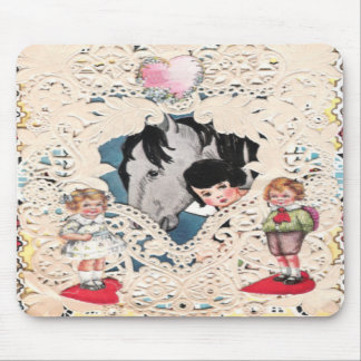 Vintage Illustrated Picture Mouse Pads