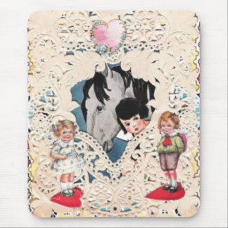 Vintage Illustrated Picture Mouse Pad