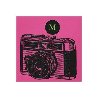 Vintage Illustration Camera 2 Monogram Canvas