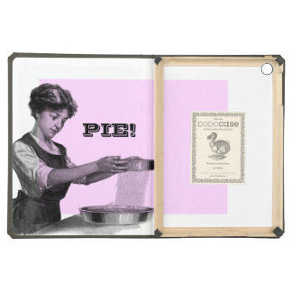 Vintage illustration of a lady baking iPad air cases