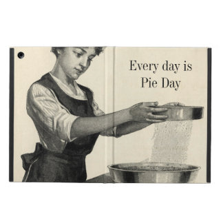 Vintage illustration of a lady baking iPad air cover