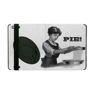 Vintage illustration of a lady baking iPad folio case