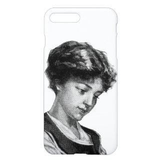Vintage illustration of a lady baking iPhone 7 plus case