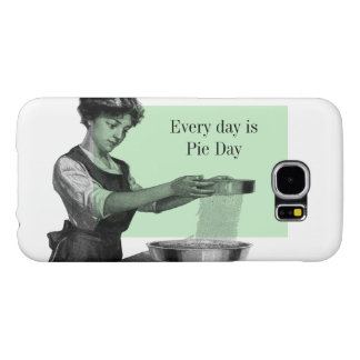 Vintage illustration of a lady baking samsung galaxy s6 cases