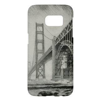 Vintage Illustration of Golden Gate Bridge