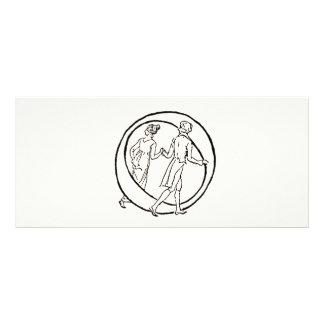 Vintage Illustration of the Letter O Customized Rack Card