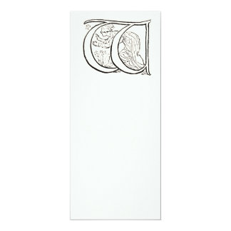 Vintage Illustration of the Letter w Personalized Invite