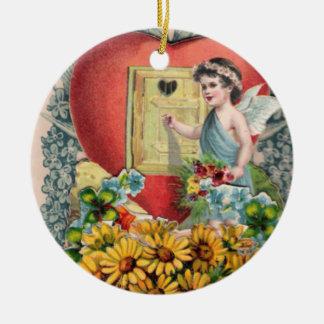 Vintage Illustration of Winged Cherub Ornament