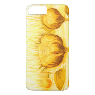 Vintage Illustration of Yellow Pond Lilies iPhone 7 Plus Case