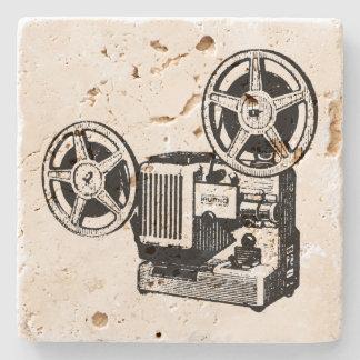 Vintage Illustration Projector Stone Coaster