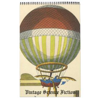 Vintage Illustration Science Fiction Futuristic Calendar