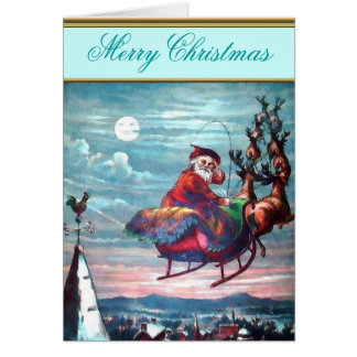 Vintage Illustration St. Nick Christmas Card