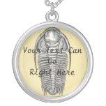 Vintage Illustration Trilobite Necklace