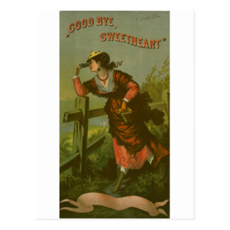 Vintage Image: Farewell Sweetheart Post Card