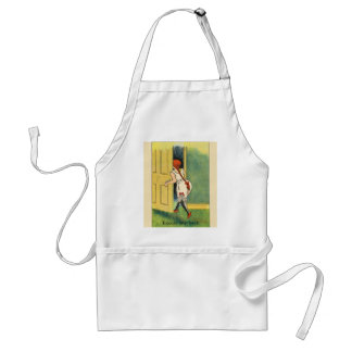 Vintage image,Humour, Excuse my back Adult Apron