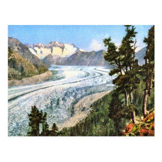Vintage image, Jungfrau glacier Bernese Oberland Postcard
