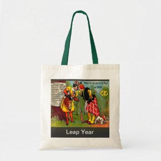 Vintage image, Leap year 1908 Budget Tote Bag