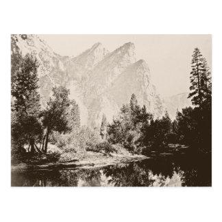 Vintage image of Yosemite National Park Postcard