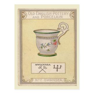 Vintage image, Old English pottery, Swansea Postcard