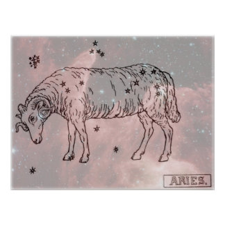 Vintage Image - Zodiac - Aries Poster