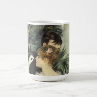Vintage Impressionism Art, City Dance by Renoir Basic White Mug