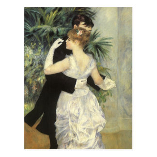 Vintage Impressionism Art, City Dance by Renoir Postcard