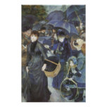 Vintage Impressionism Art, Umbrellas by Renoir Poster