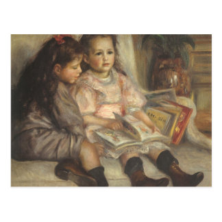 Vintage Impressionism, Children Portrait by Renoir Postcard