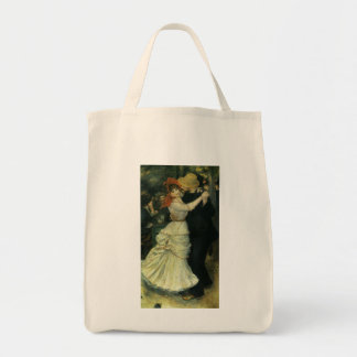 Vintage Impressionism, Dance at Bougival by Renoir Grocery Tote Bag