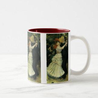 Vintage Impressionism, Dance at Bougival by Renoir Two-Tone Mug